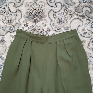 Vintage Army Green Tailored Trousers